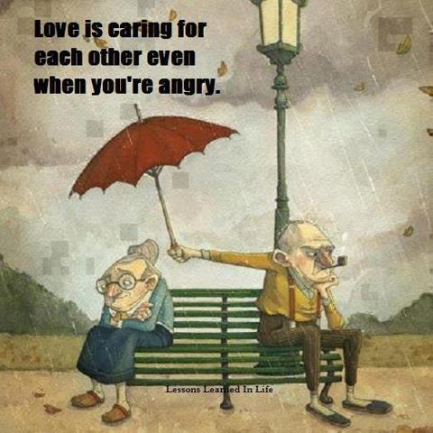 Love is caring even when you're angry
