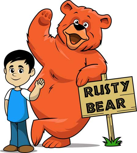 Rusty Bear and Thomas Too Color Art