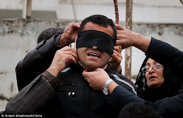 incredible moment an Iranian killer is spared execution by his victim's mother