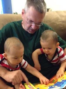 Grandpa and Twins photo