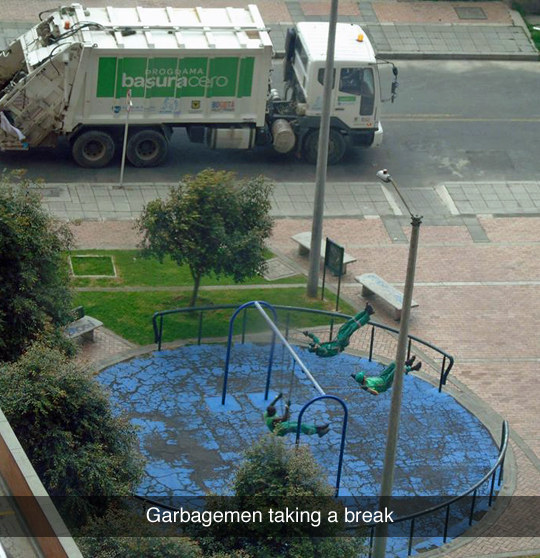 Garbagemen Taking a Break